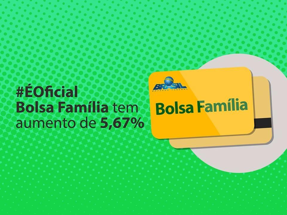 Bolsa Família receberá reajuste de 5,67% a partir de julho