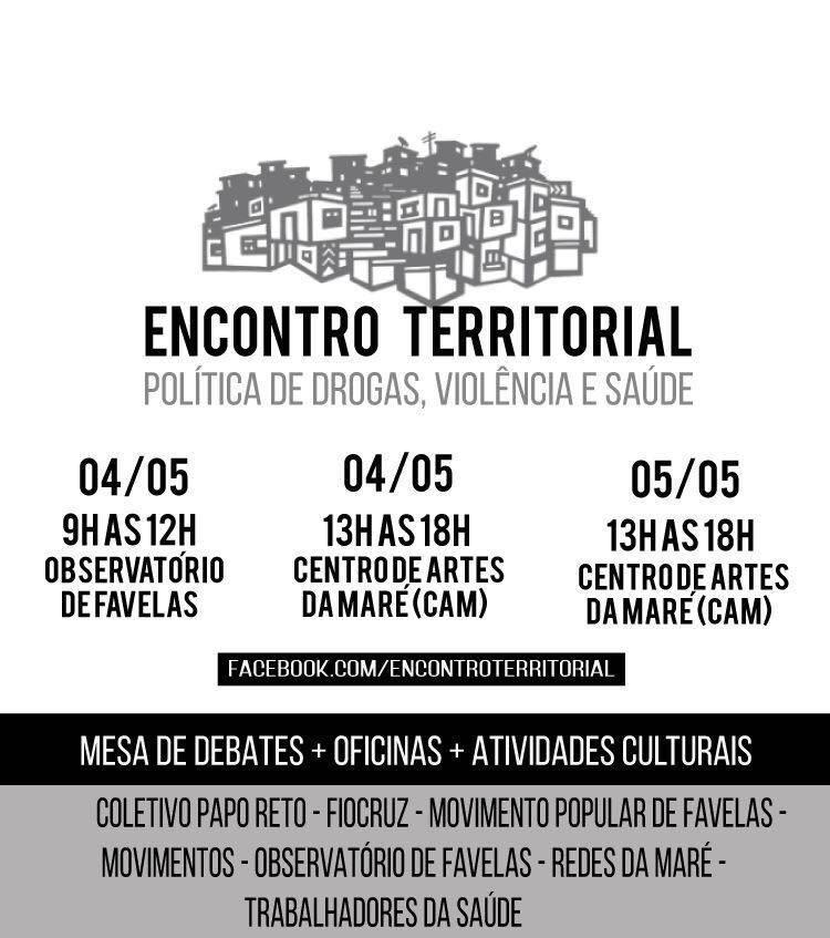 Primeiro Encontro Territorial no Complexo da Maré vai começar amanhã (04)