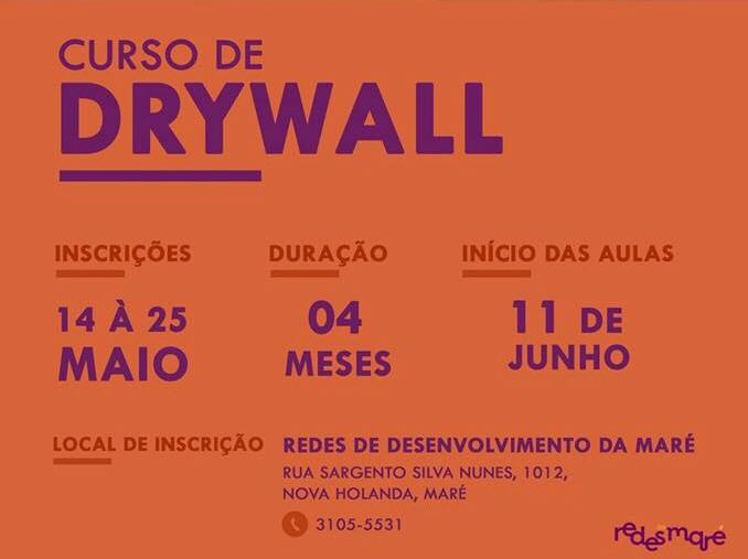 Redes da Maré oferece curso de Drywall