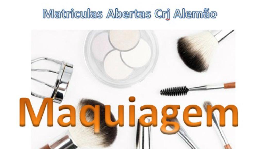 Curso gratuito de maquiagem no CRJ Alemão