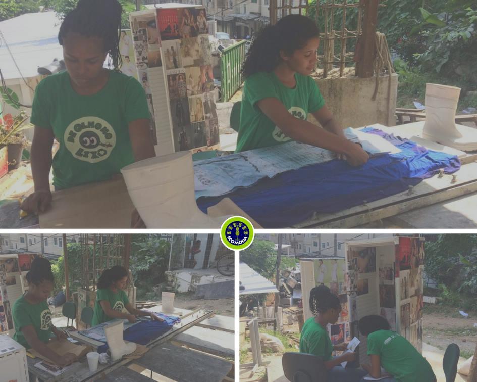 Ecomoda transforma peças descartáveis em roupas novas na Rocinha