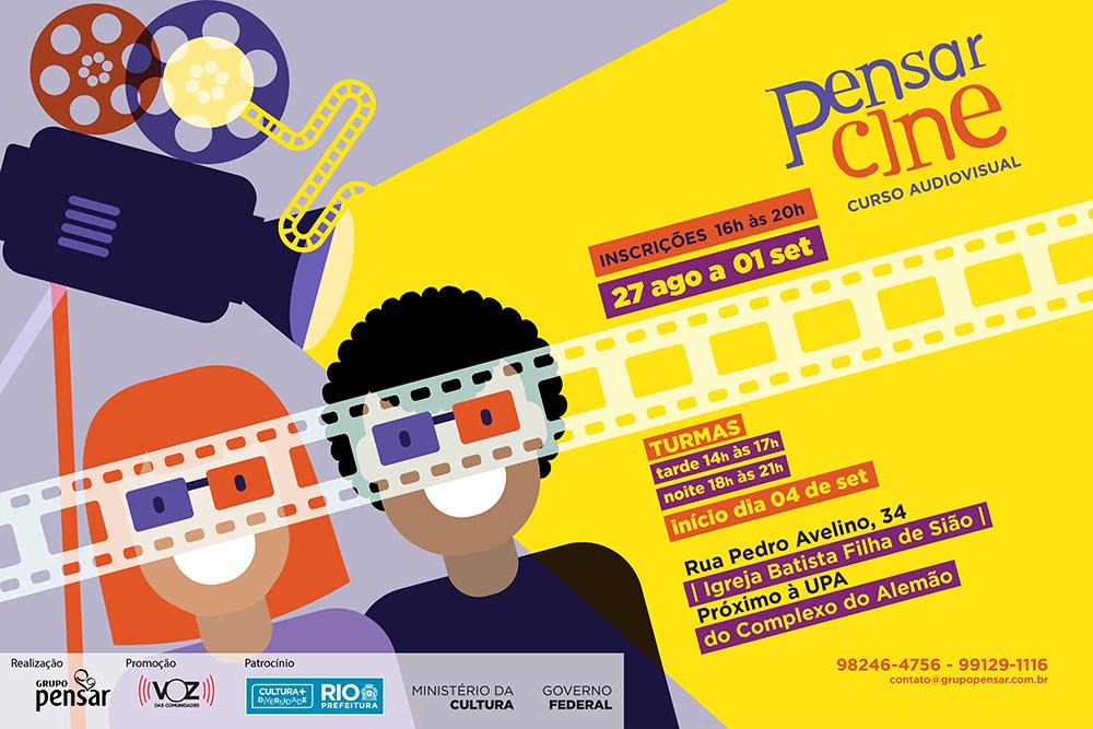Pensar Cine abre vagas para curso de audiovisual no Complexo do Alemão
