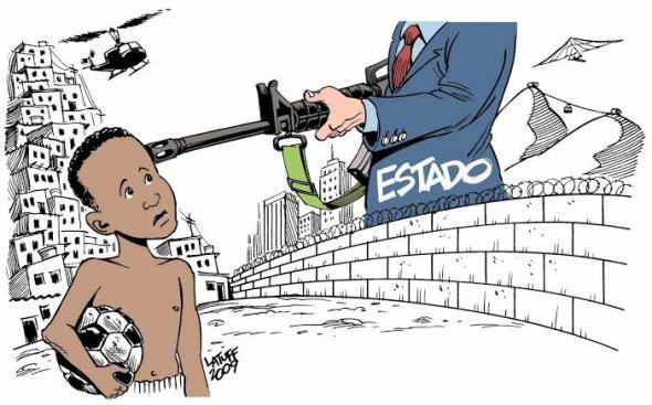 O racismo reforça a violência que existe no Brasil