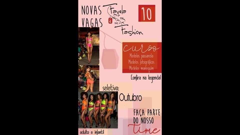 Estão abertas as inscrições para o curso de moda Favela é Fashion