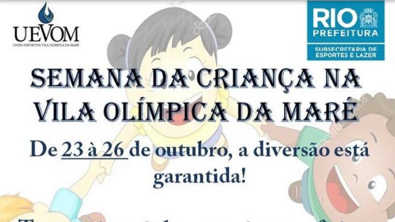 Semana da criança na Vila Olímpica da Maré
