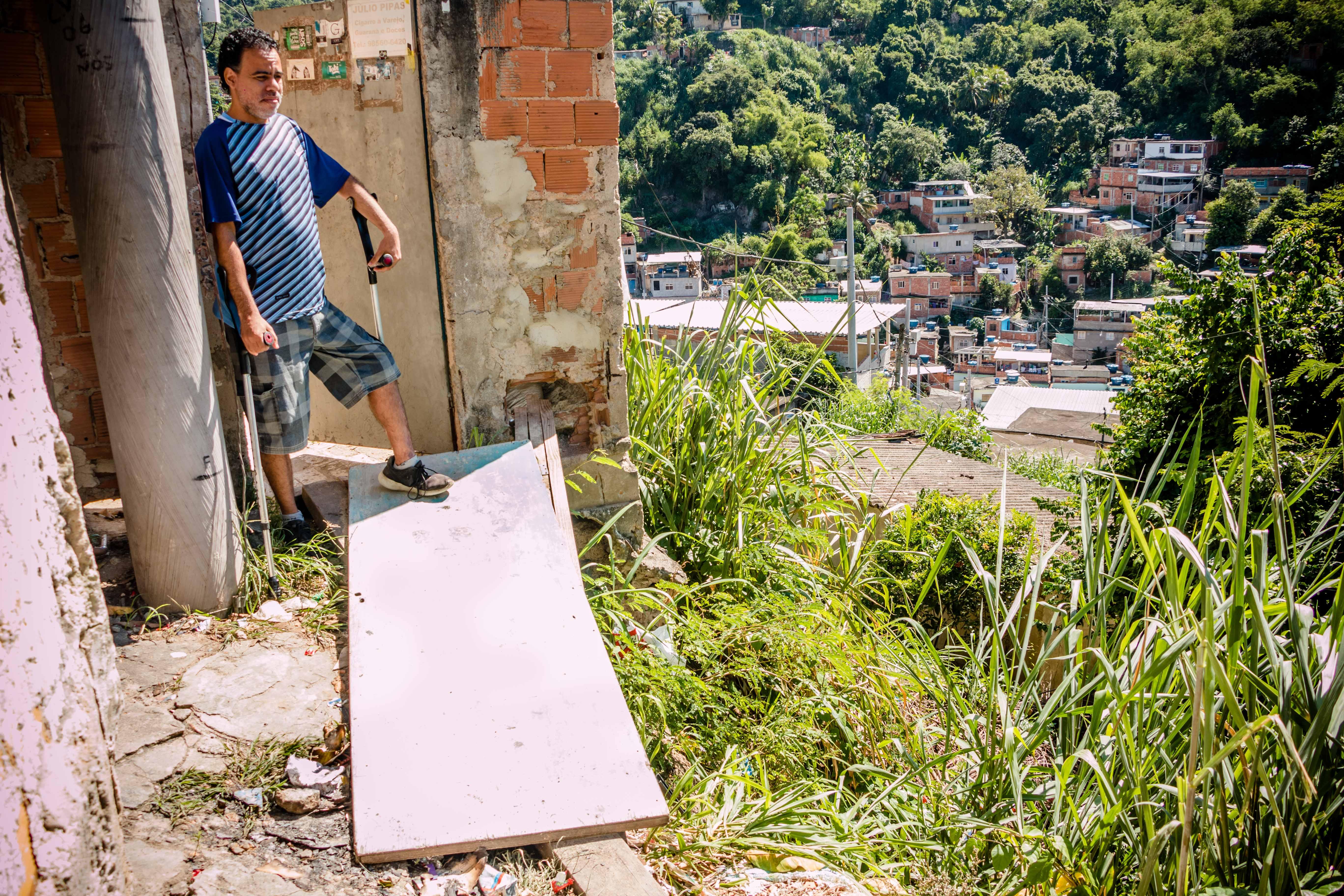 Morador Julio de Carvalho - Foto: Renato Moura - Voz das Comunidades