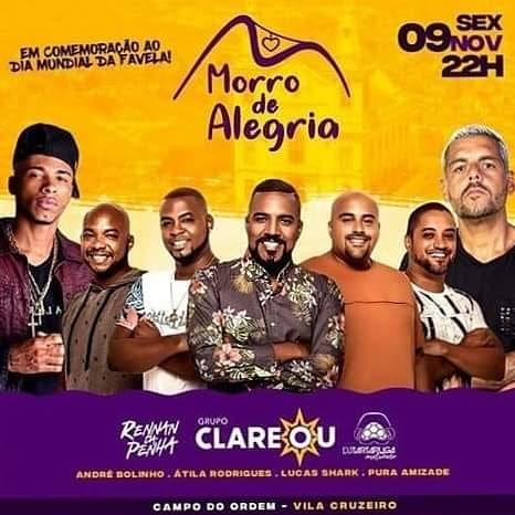 Dia da Favela será comemorado com shows na Vila Cruzeiro nesta sexta-feira (09)