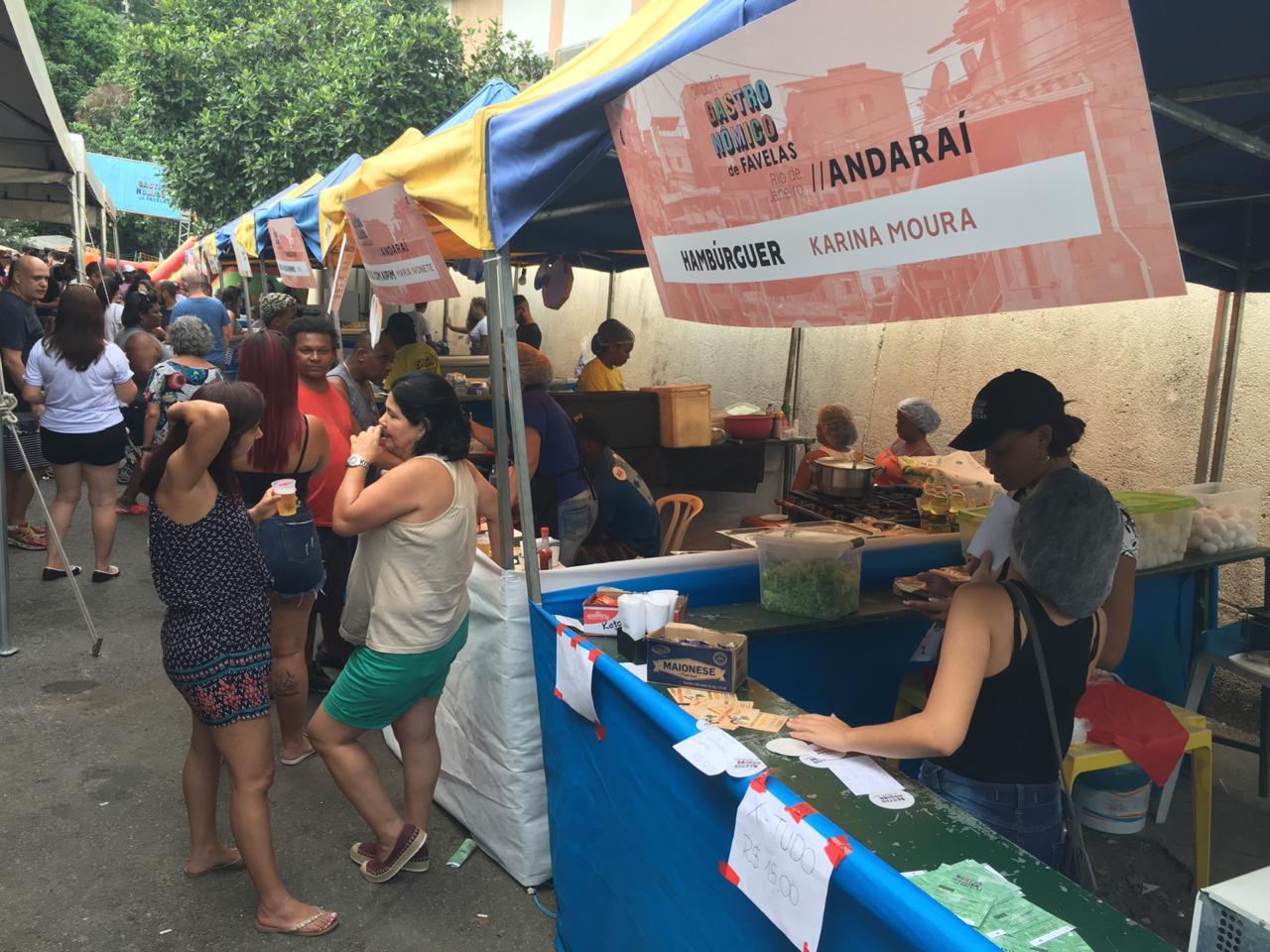Circuito Gastronômico de Favelas agita o domingo no Complexo do Andaraí