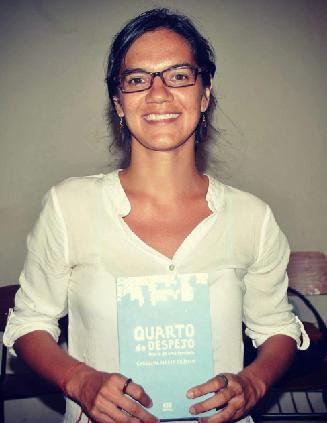 Miriane Peregrino é coordenadora da roda e criadora da exposição   Foto: Reprodução