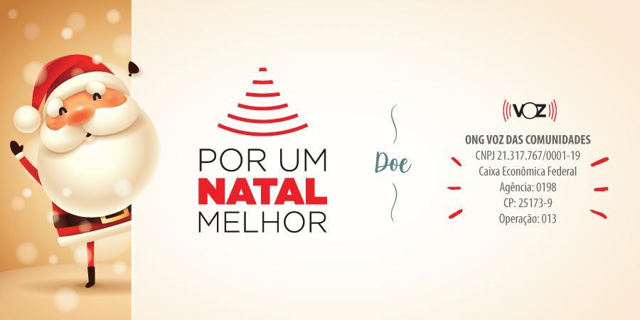 Campanha Por Um Natal Melhor nas favelas cariocas