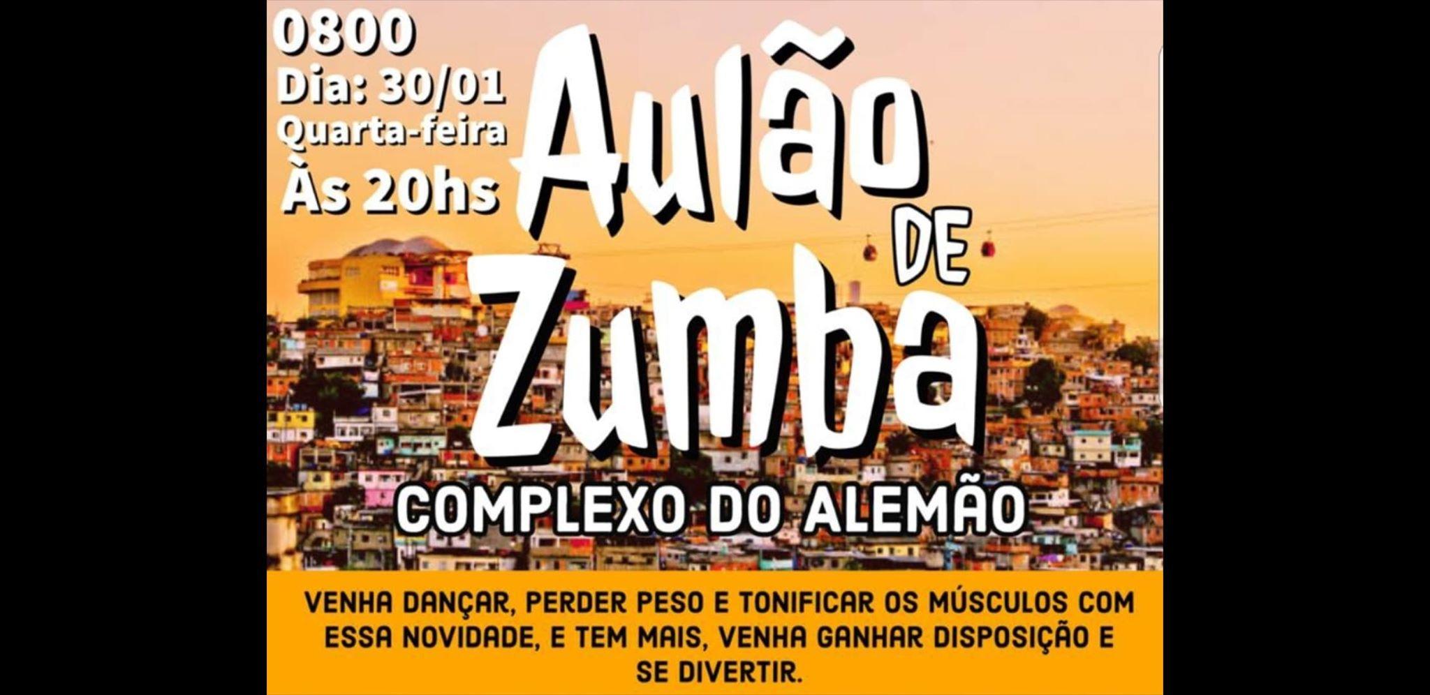 Aulão de Zumba gratuito acontece amanhã no Campo do Loteamento da Castrol