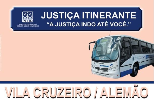 Confira o calendário do ônibus da Justiça Itinerante no Alemão e Vila Cruzeiro