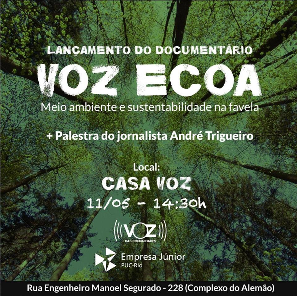 Documentário sobre sustentabilidade na favela será exibido no próximo sábado na Casa Voz