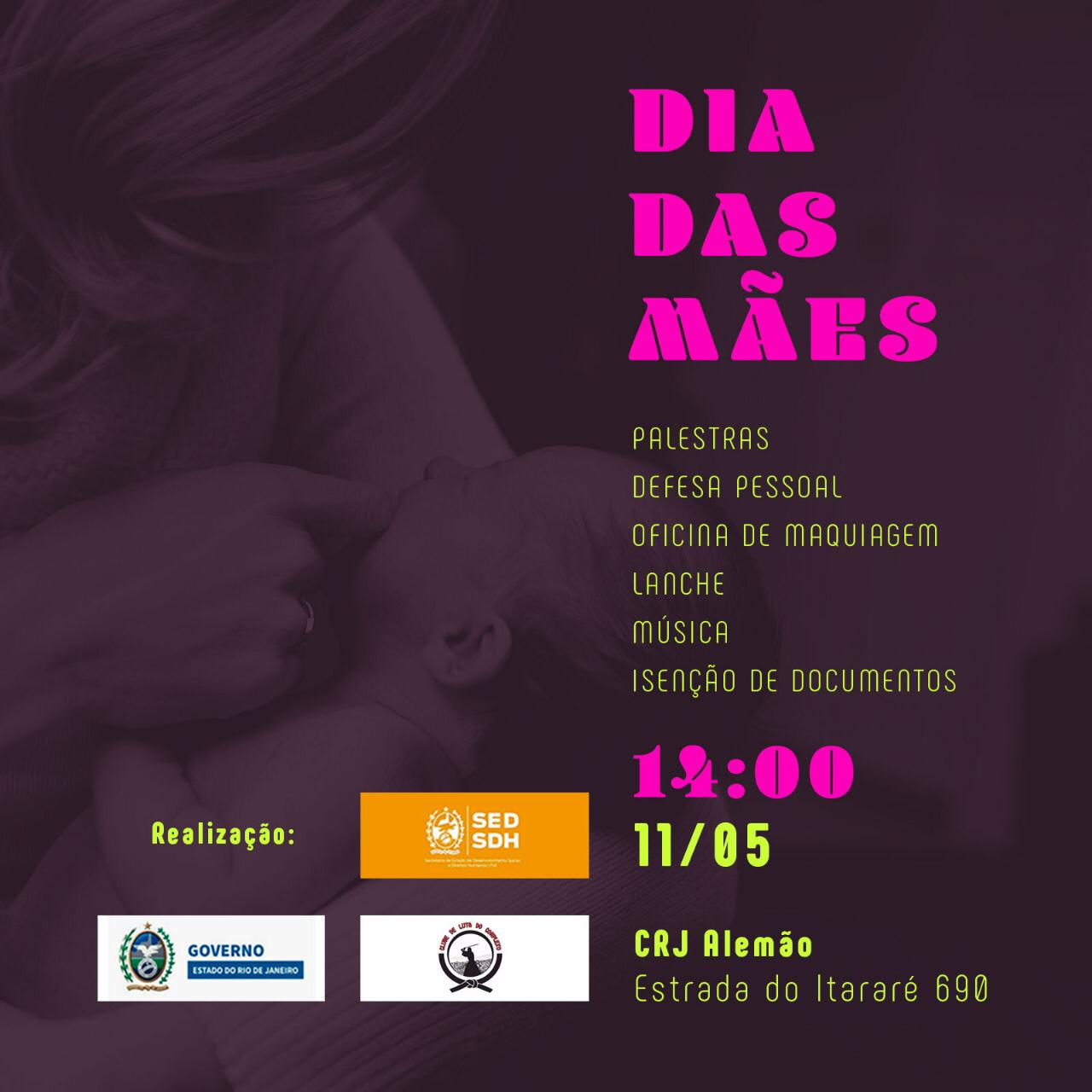Com palestras e oficinas, CRJ promove ação de Dia das Mães no Alemão