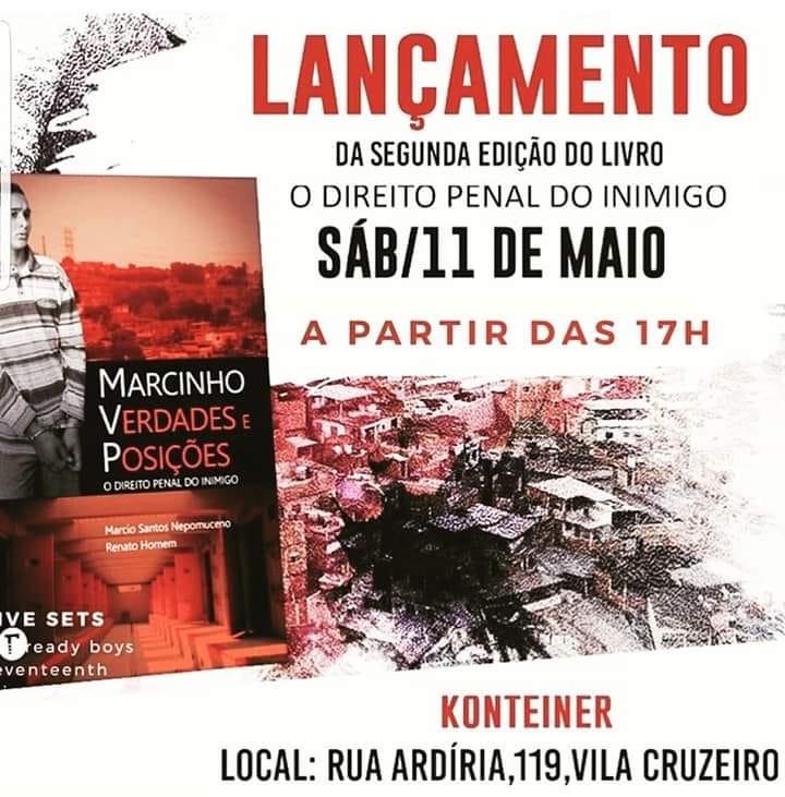 Konteiner recebe lançamento da 2ª edição de livro sobre Marcinho VP
