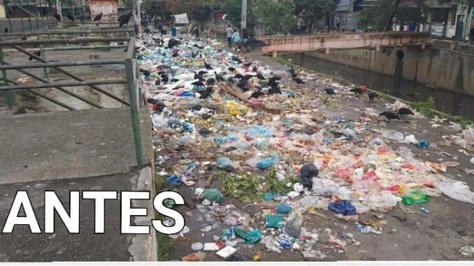 Lixão a céu aberto é removido por moradores no Jacaré