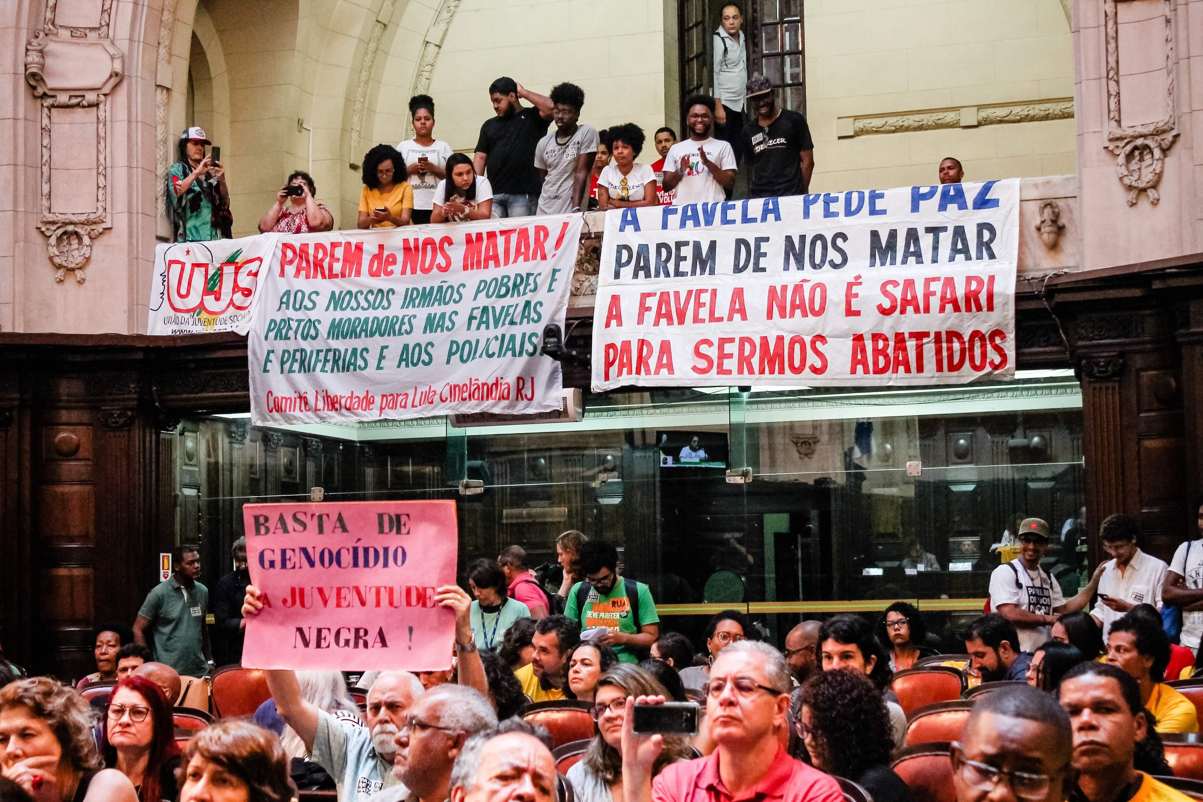 Audiência na ALERJ debate violações de Estado em Favelas