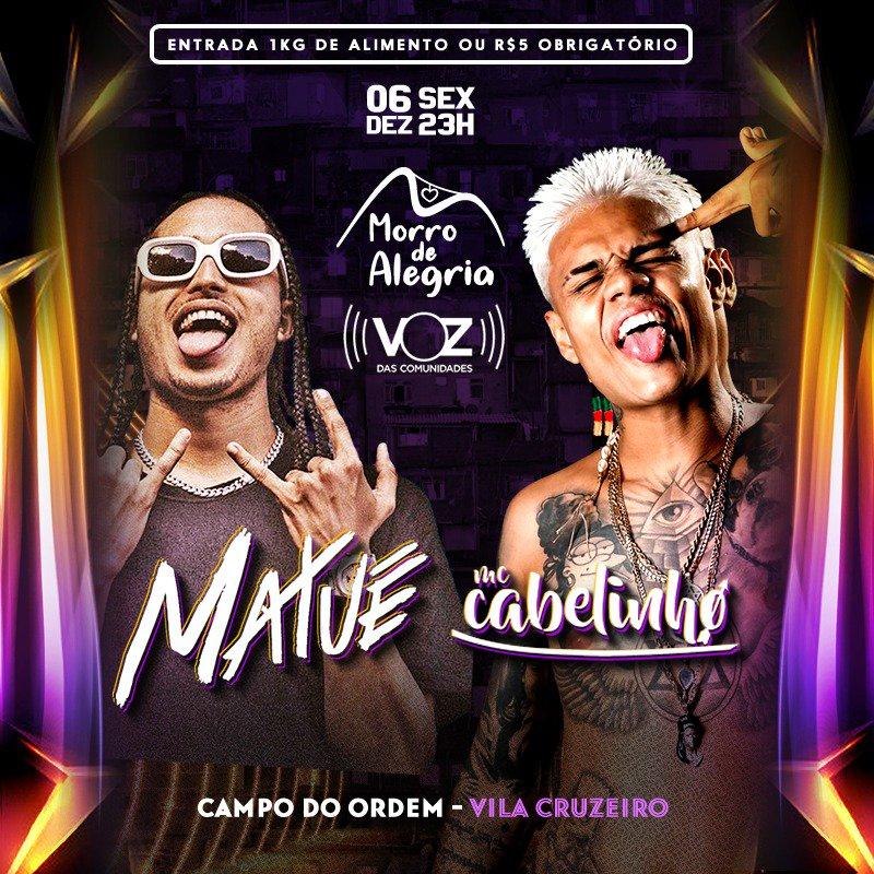Vila Cruzeiro recebe Matuê e Mc Cabelinho em show beneficente