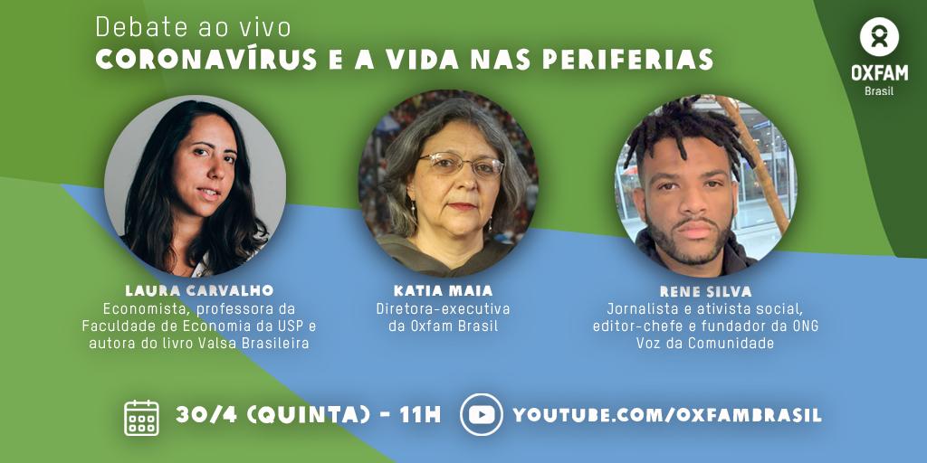 Rene Silva participa de live da Oxfam Brasil sobre coronavírus e periferias na quinta (30)