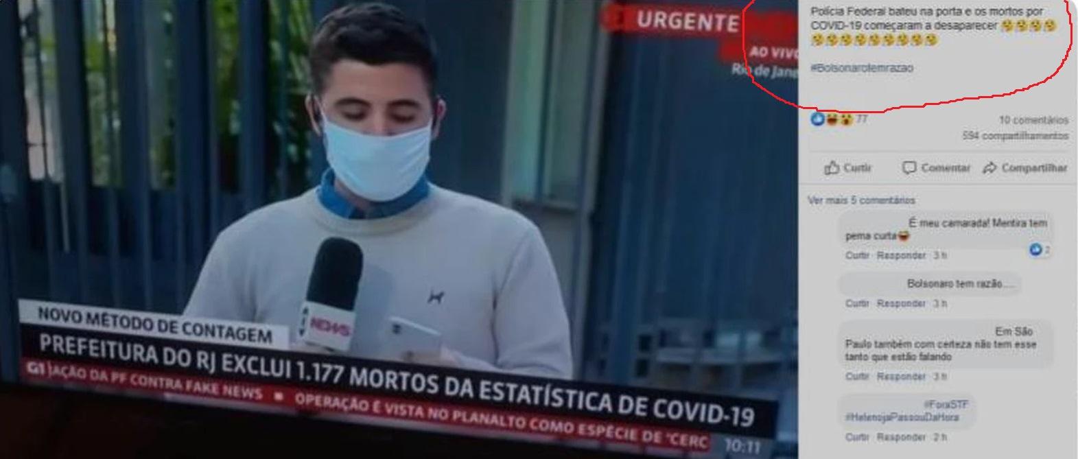 Operação da PF fez cidade do Rio de Janeiro excluir 1,1 mil mortes por Covid-19 da estatística oficial