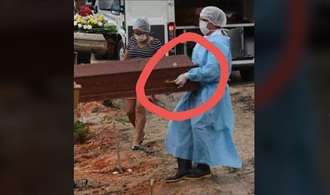 NÃO aconteceram enterros sem corpos durante a pandemia do novo coronavírus na cidade
