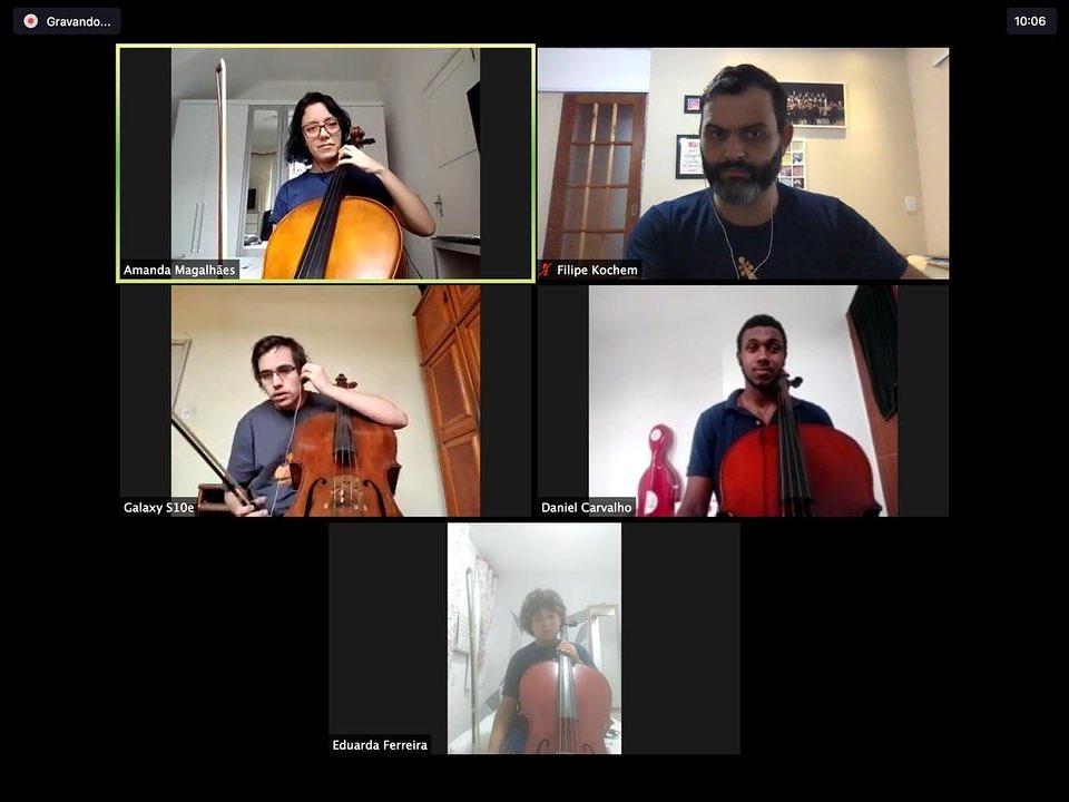 Orquestra Maré do Amanhã segue com atividades on-line para garantir a segurança dos alunos