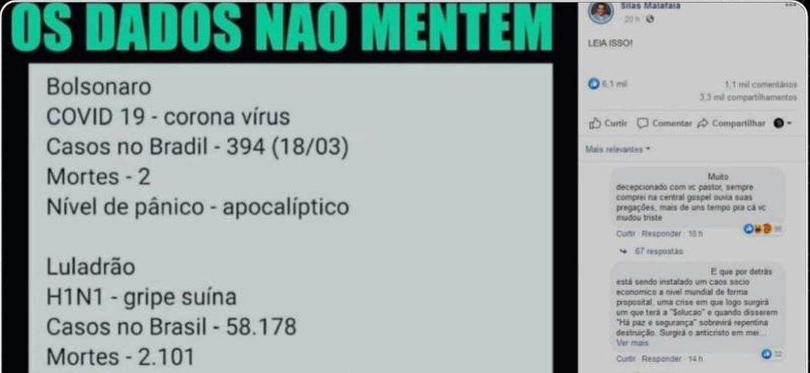 Surto de H1N1 no Brasil, em 2009, NÃO matou mais que o do novo coronavírus