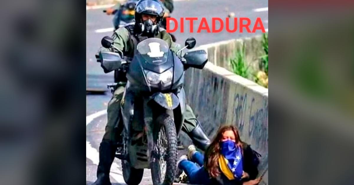 Foto de jovem sendo pisoteada por policial NÃO foi feita no Ceará durante a pandemia