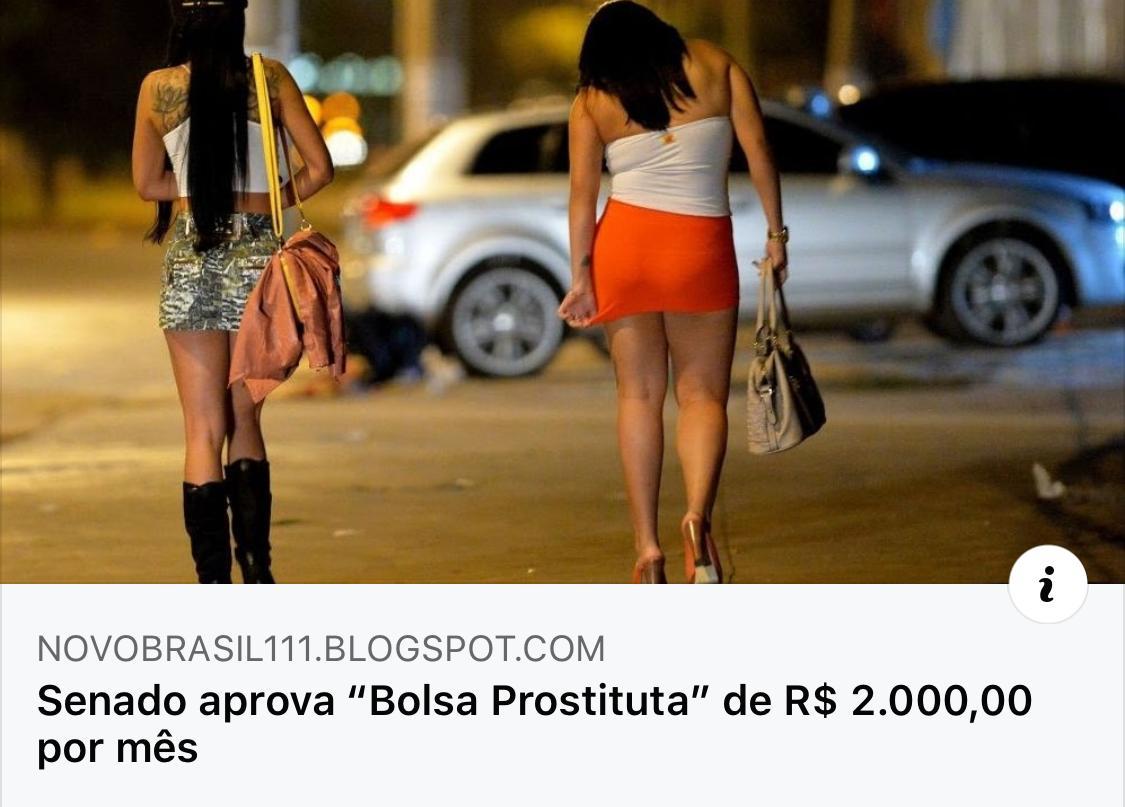 """Senado NÃO aprovou """"bolsa prostituta"""" de R$ 2.000,00 por mês"""