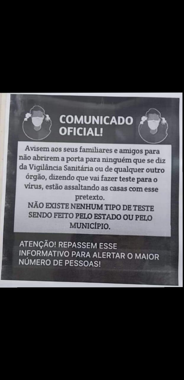 NÃO ocorreram assaltos de agentes da vigilância sanitária