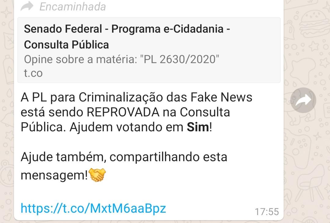 PL da Criminalização das Fake News está em Consulta Pública no Senado