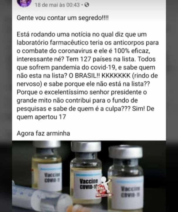Falta de investimento brasileiro NÃO impede acesso ao anticorpo contra Covid-19