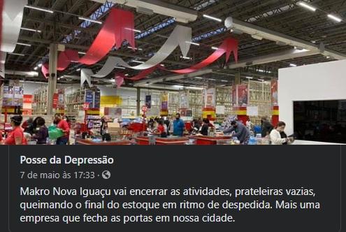 Rede de hipermercados Makro Não fechou as lojas no Rio por conta da crise do coronavírus