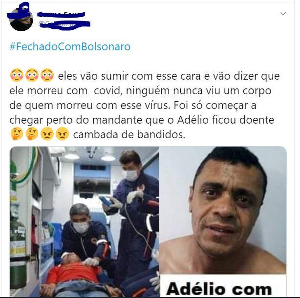 Adélio Bispo, preso por esfaquear Bolsonaro, NÃO está com Covid-19