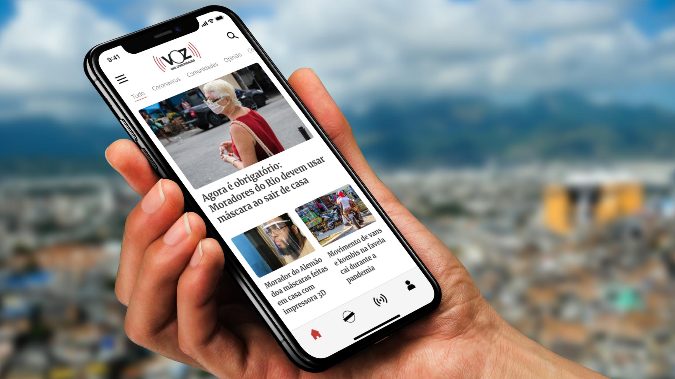 O App do Voz das Comunidades