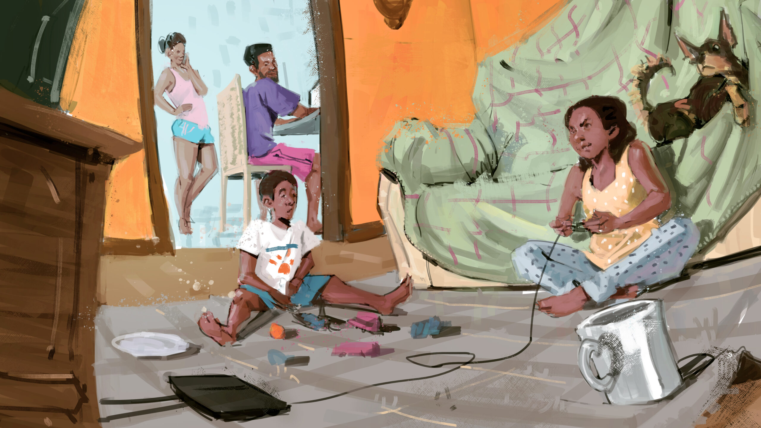 Mães do Santa Marta falam sobre dificuldades em casa com filhos sem aulas