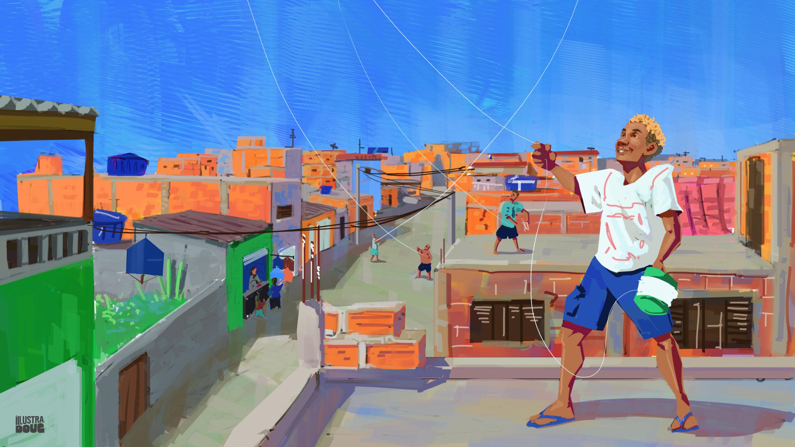 O resgate das pipas na favela: isolamento social faz com que pipeiros retornem à ativa