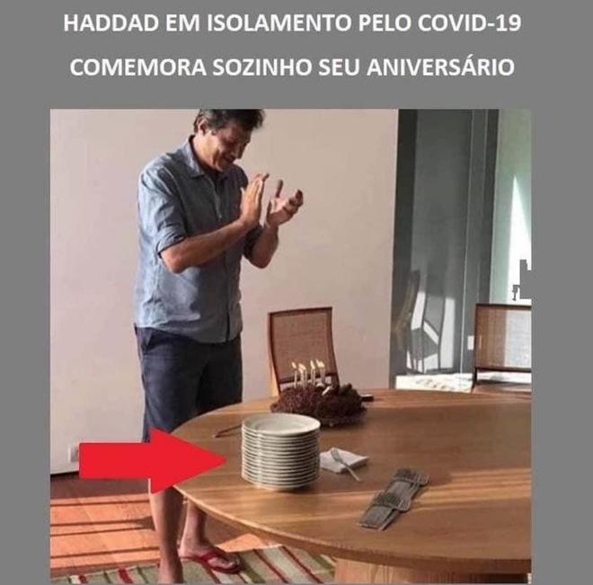 Fernando Haddad NÃO fez festa de aniversário durante a quarentena