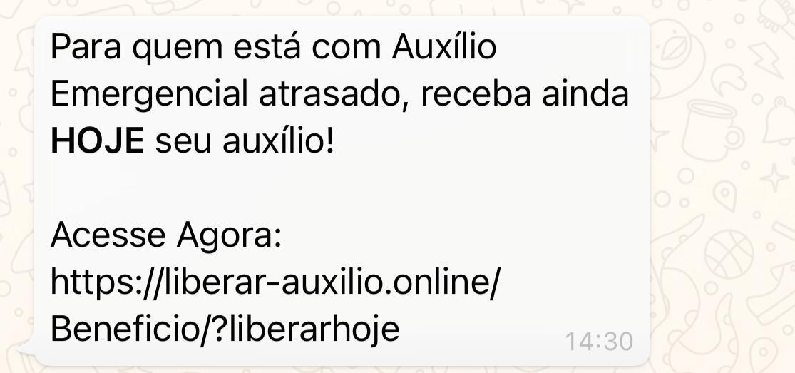 Auxílio Emergencial atrasado NÃO pode ser resgatado por link no WhatsApp