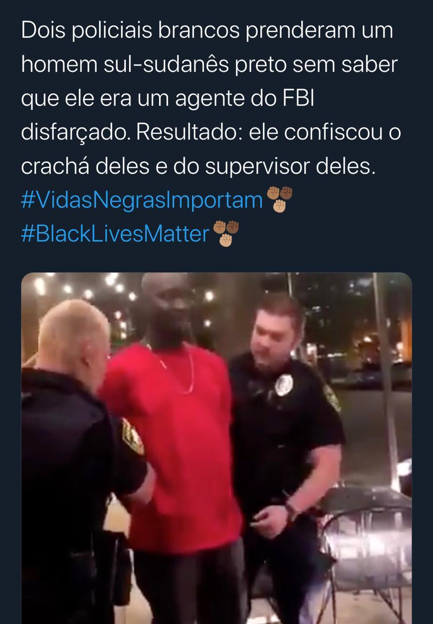 Homem negro que aparece em vídeo, sendo preso nos EUA, NÃO era agente do FBI