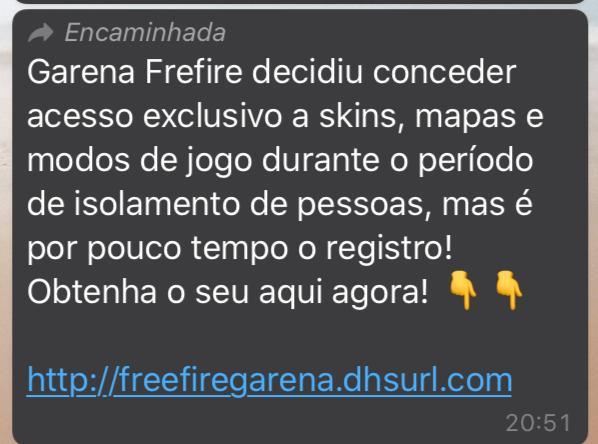 Garena Free Fire NÃO vai conceder acesso exclusivo a skins, mapas e modos de jogo durante o período de isolamento