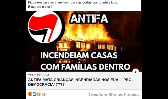 Grupo antifascista NÃO matou crianças incendiadas nos Estados Unidos