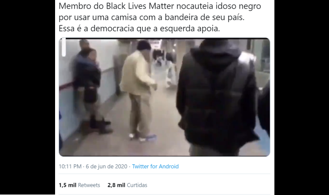Vídeo que mostra adolescente agredindo idoso em metrô NÃO tem relação com movimento Black Lives Matter