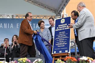 Inauguração do Teleférico do Alemão. Foto: Reprordução