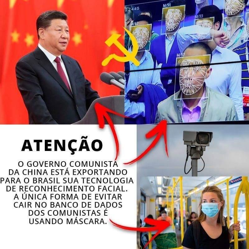 Governo chinês NÃO está exportando tecnologia de reconhecimento facial para o Brasil