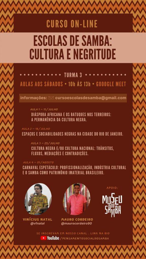 curso sobre escolas de samba